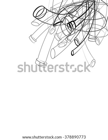 pollution, industrial pipes - stock vector