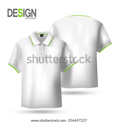 Polo-shirts. Design template(front and back views), Vector illustration. - stock vector
