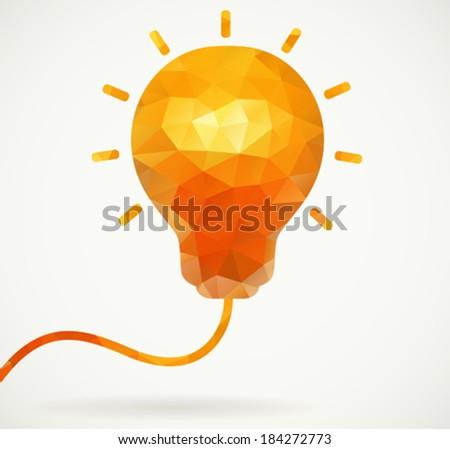 Polygon light bulb  - stock vector
