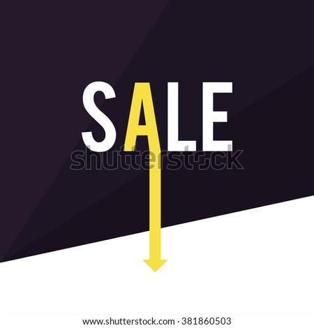 Polygon shape and arrow Sale. Abstract Geometric Background. Modern Geometric. Your Design Template - stock vector