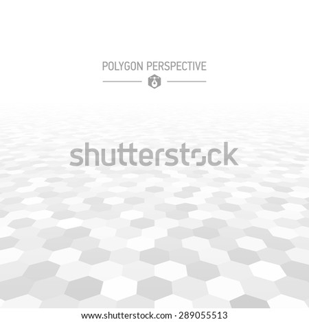 Polygon shapes perspective background vector illustration - stock vector