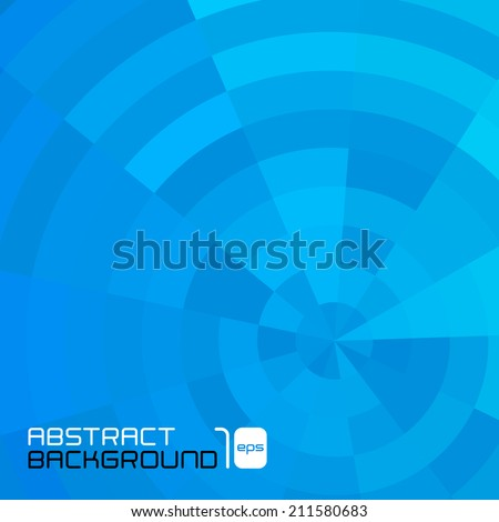 Polygonal abstract blue background for business presentation. Vector illustration. - stock vector
