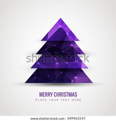 Polygonal christmas tree vector - stock vector