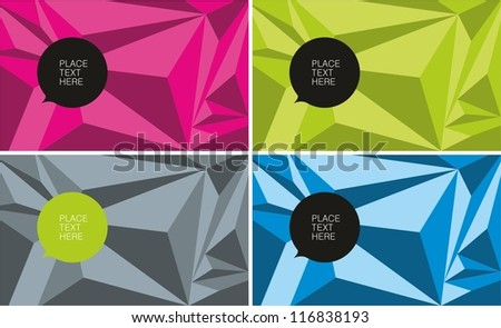Polygonal color texture - stock vector