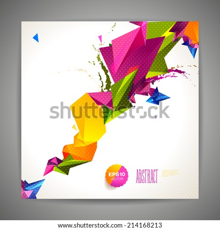 Polygonal geometric background for modern design - stock vector