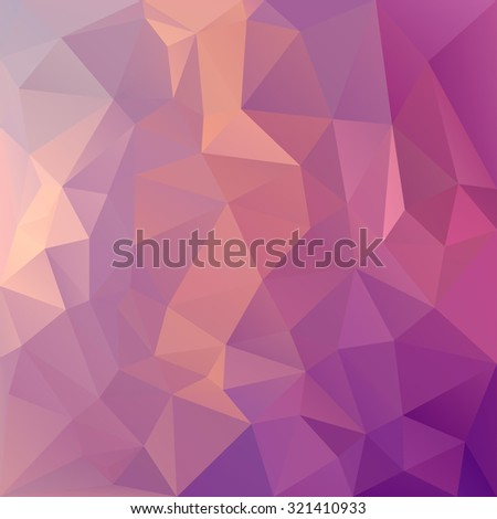 Polygonal mosaic abstract geometry background landscape in magenta and pink colors. Used for creative design templates - stock vector