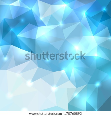 Polygonal shine background. Vector illustration - stock vector