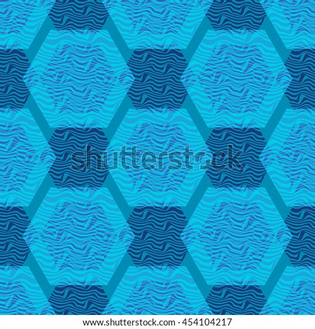 Polygonal structure seamless pattern - stock vector