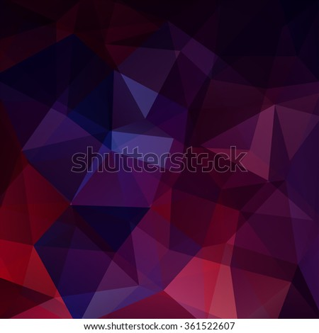 Polygonal vector background. Can be used in cover design, book design, website background. Vector illustration - stock vector