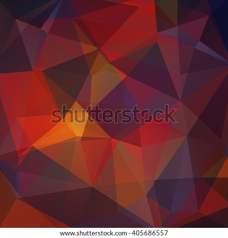 Polygonal vector background. Can be used in cover design, book design, website background. Vector illustration. Autumn-colored. Brown, yellow, orange, red colors.  - stock vector