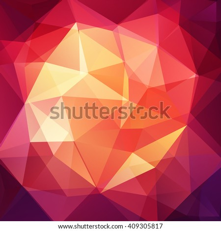 Polygonal vector background. Can be used in cover design, book design, website background. Vector illustration. Red, orange, yellow, brown colors.  - stock vector