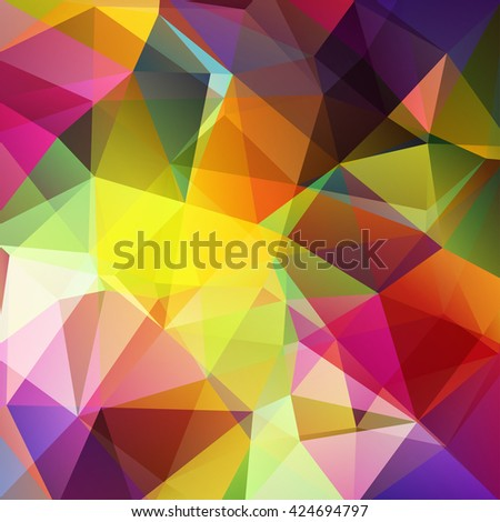 Polygonal vector background. Can be used in cover design, book design, website background. Vector illustration. Yellow, pink, purple, green colors.  - stock vector