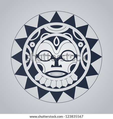 Polynesian tattoo styled vector illustration. - stock vector