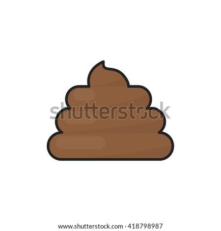 poo icon. vector illustration - stock vector