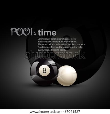 pool ball theme design illustration - stock vector