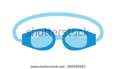 Pool goggles swimming equipment isolated vector illustration. Goggles. Swimming goggles flat icon. Goggles for swimming flat icon. Pool goggles swimming sport. Pool goggles swimming mask. - stock vector