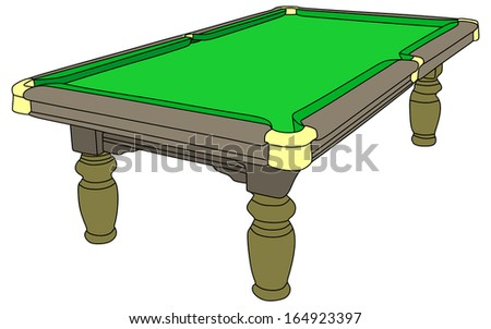 pool table isolated on white background, vector - stock vector