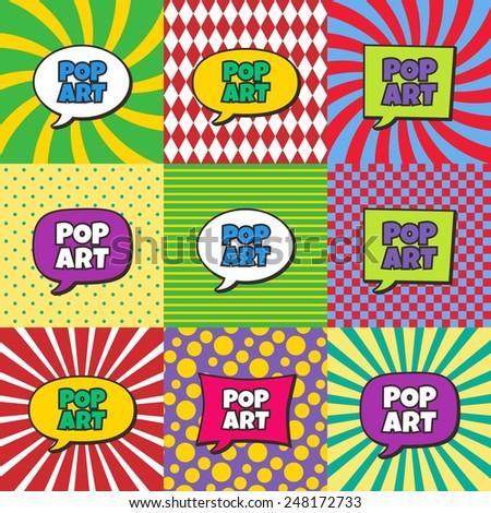 pop art - stock vector