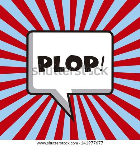 pop art design over lines background vector illustration - stock vector
