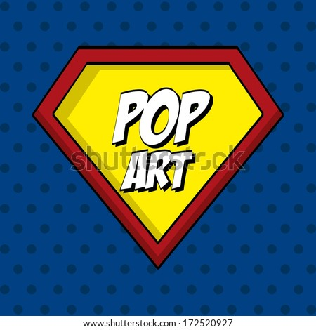 pop art   over  dotted background vector illustration - stock vector