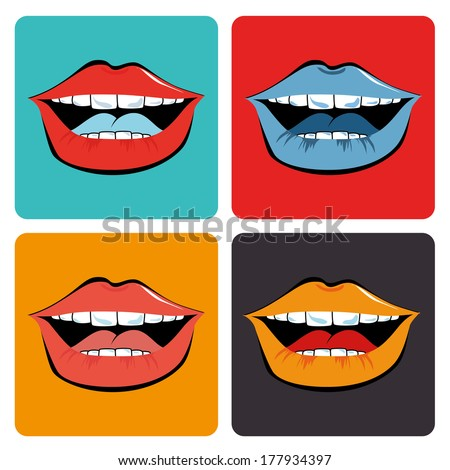 pop art   over  white background vector illustration - stock vector