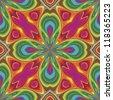 Pop art pattern in funky disco style - stock vector