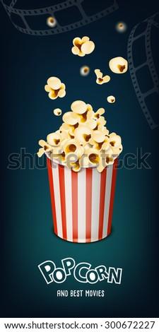 pop corn - stock vector