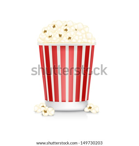 pop corn box isolated on white background - stock vector