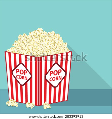 Popcorn bucket - stock vector