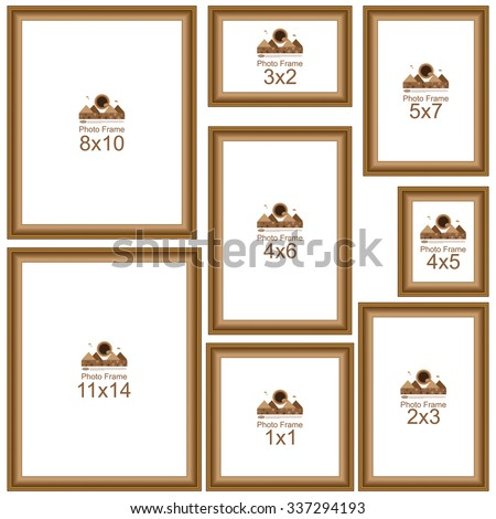 Popular Picture Frame Sizes Wood Border Frame For