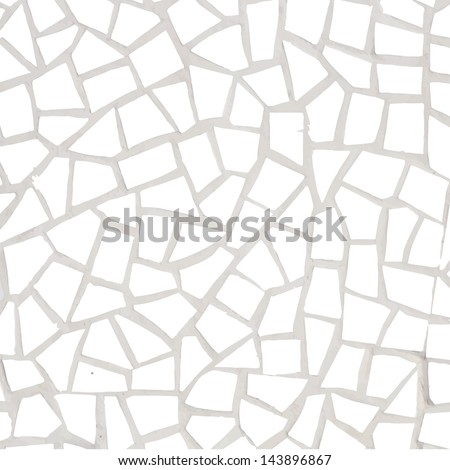 porcelain pieces mosaic background - stock vector