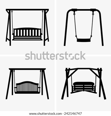 Porch swings - stock vector
