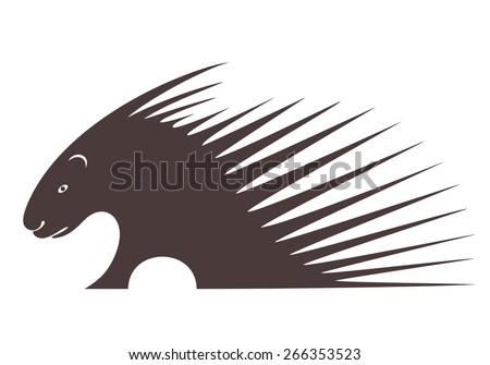 Porcupine - stock vector