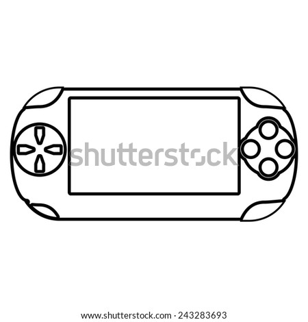 Portable game pad  - stock vector