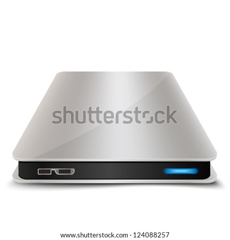 Portable Hard Disk Drive - stock vector
