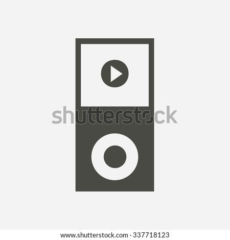 Portable media player icon. Flat design style. Vector EPS 10. - stock vector