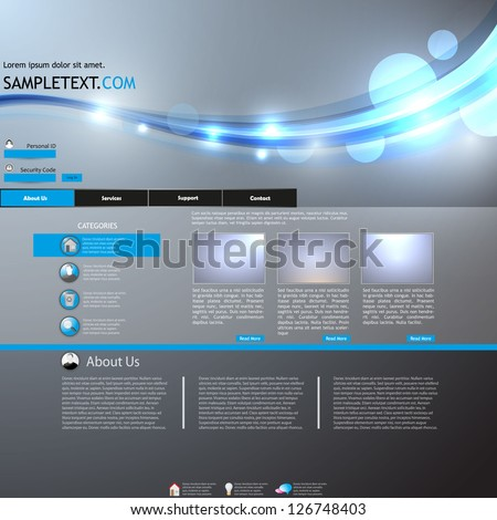 portfolio layout or website design template - stock vector
