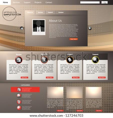 portfolio website template vector - stock vector