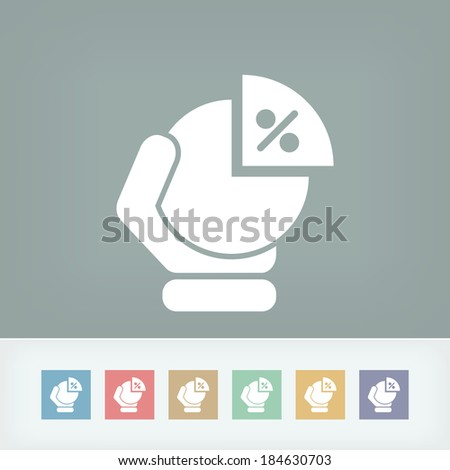 Portion chart icon - stock vector