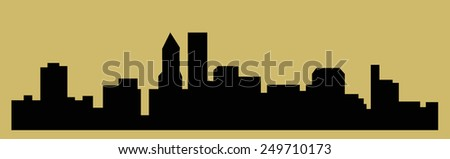 Portland, Oregon (city silhouette) - stock vector