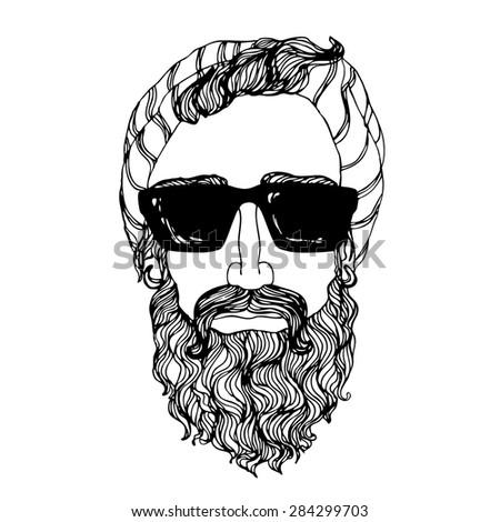 Portrait of bearded ma...