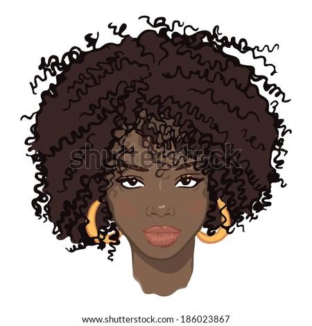 portrait of beauty african women  - stock vector