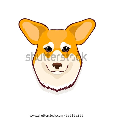 Portrait of Pembroke Welsh Corgi Dog - stock vector