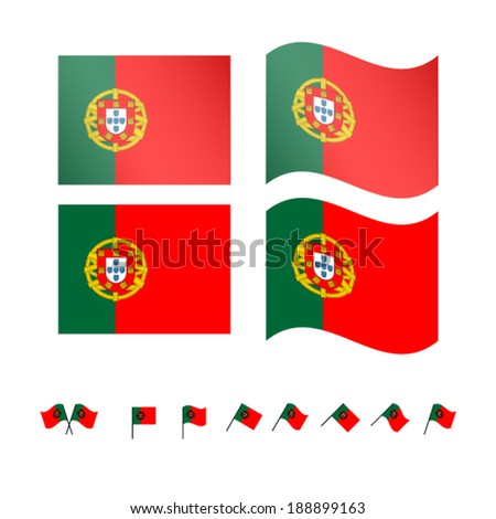 Portugal Flags EPS 10 - stock vector