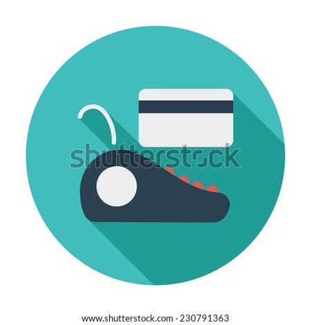 POS terminal. Single flat color icon. Vector illustration. - stock vector