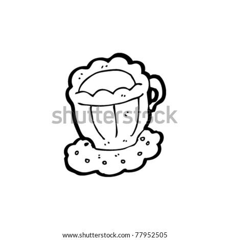 posh teacup cartoon - stock vector