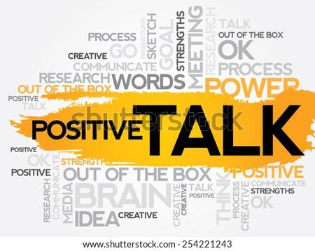 POSITIVE TALK word cloud, business concept - stock vector