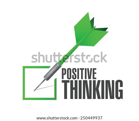 positive thinking check dart illustration design over a white background - stock vector