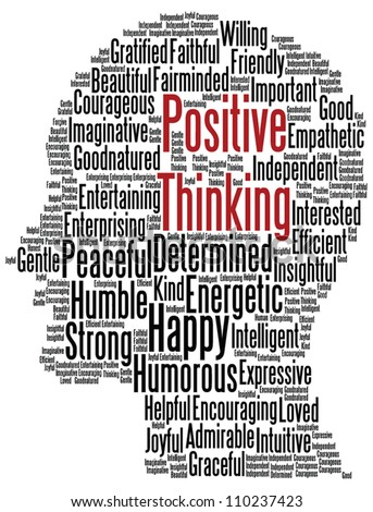 Positive thinking concept vector - stock vector