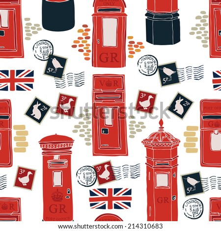 Post office boxes background - stock vector